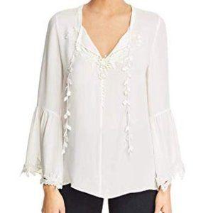 Kobi Halperin Eda White Silk Top XS